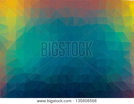 multicolor vector mosaic composition with ceramic geometric shapes for your design