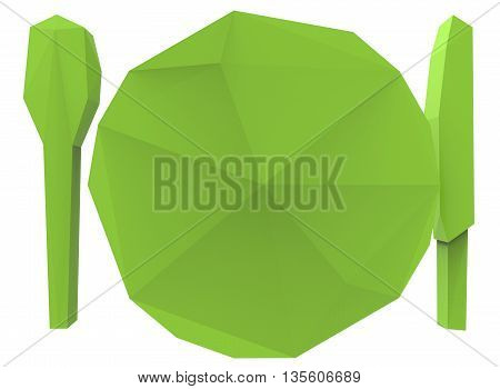 3d illustration of cafe sign. icon for game web. white background isolated.