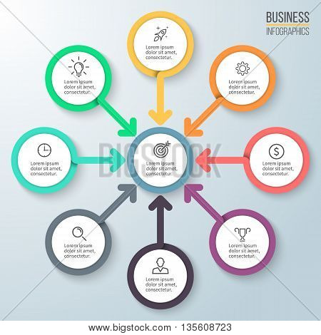 Business infographics. Diagram for presentation. Vector template.
