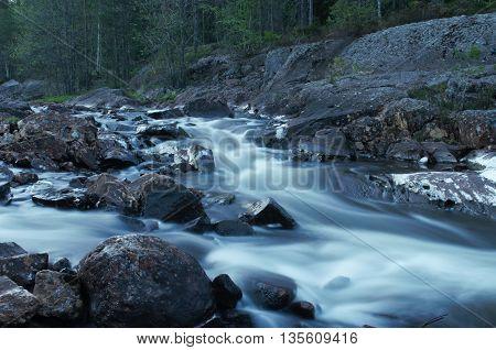 River taken in Norway in the night