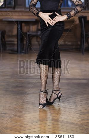 Low Section Of Woman Performing Tango