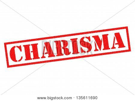 CHARISMA red Rubber Stamp over a white background.