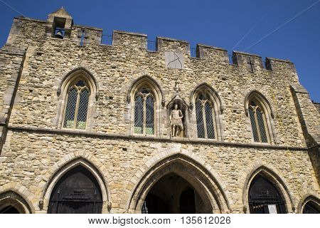 The historic medieval Bargate in Southampton UK.