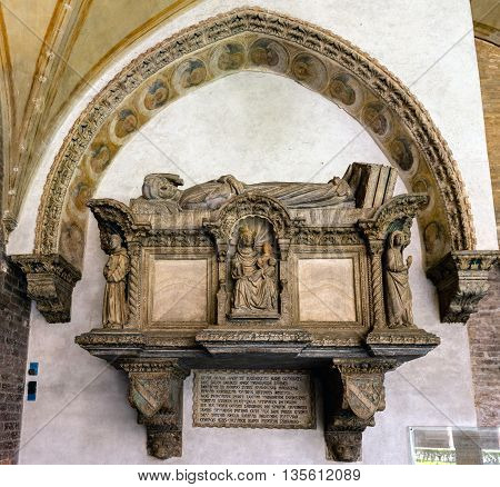 Medieval Tomb In The Basilica Of Saint Anthony Of Padua