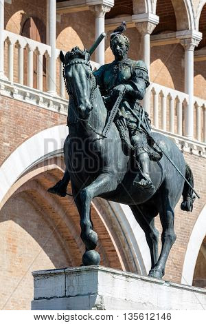 Equestrian Statue Of The Venetian General Gattamelata In Padua,
