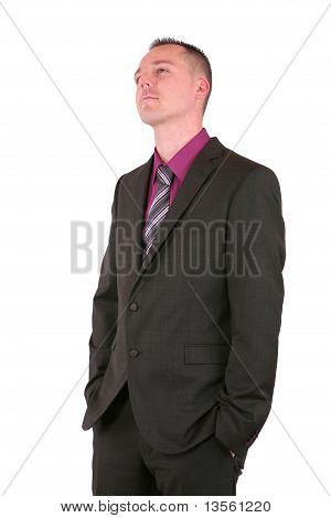 Conceited Young Businessman In A Suit