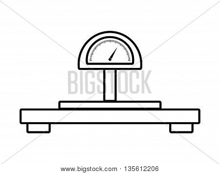 Scale concept represented by weight icon over isolated and flat background