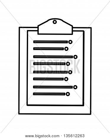 Planner concept represented by checklist icon over isolated and flat background