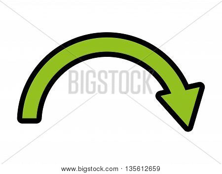 Direction concept represented by arrow icon over isolated and flat background