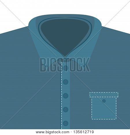 Male cloth concept represented by tshirt icon over isolated and flat background