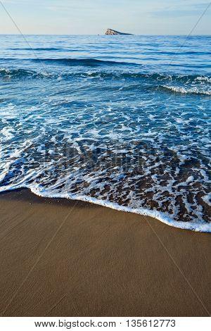 Benidorm beach and island in Alicante of spain