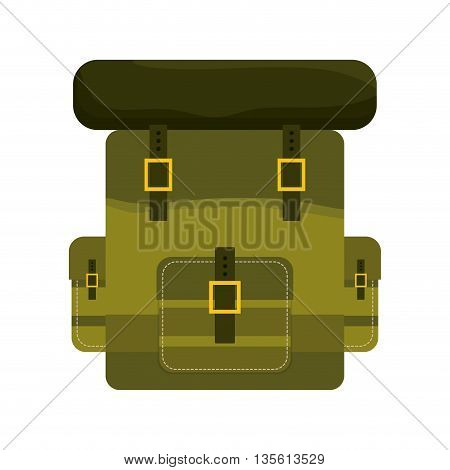 Armed forces concept represented by bag icon over isolated and flat background