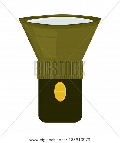 Armed forces concept represented by lamp icon over isolated and flat background