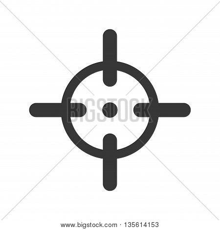 Armed forces concept represented by sight icon over isolated and flat background