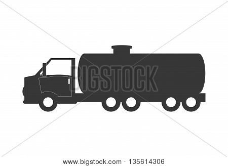 Gasoline station concept represented by truck icon over isolated and flat background