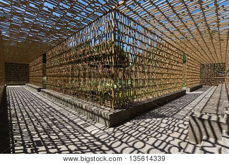 Berlin Germany - june 23 2016: The Christian Garden ( Christlicher garten in Gardens of the world ( Gaerten der Welt) in Berlin.