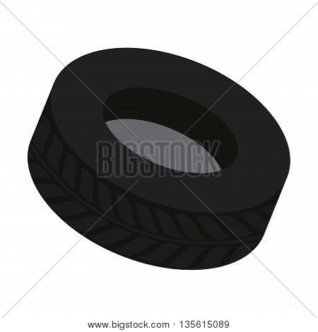 Transportation concept represented by wheel icon over isolated and flat background