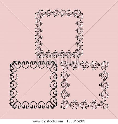 The scope of the monograms for photos. Vintage monochrome frame