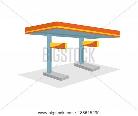 Gasoline concept represented by station icon over isolated and flat background