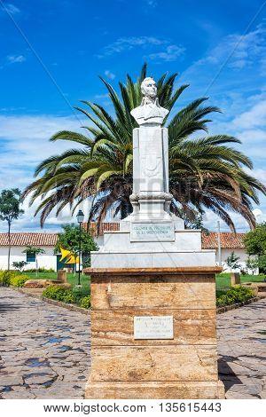 Statue In Plaza In Villa De Leyva