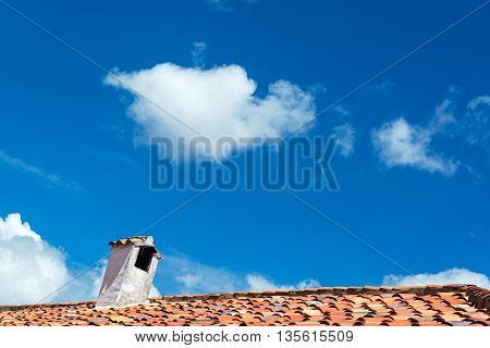 Colonial Roof And Sky