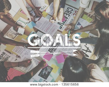 Goals Inspiration Aim Strategy Target Concept