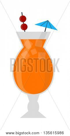 Cocktail vector illustration.