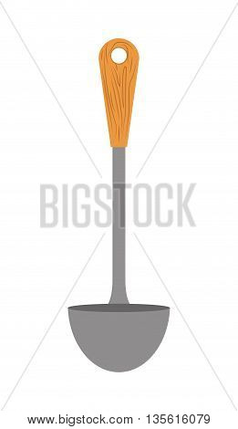 Cutlery and menu concept represented by spoon icon over isolated and flat background