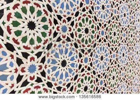 oriental mosaic decoration - morocco wall tiles