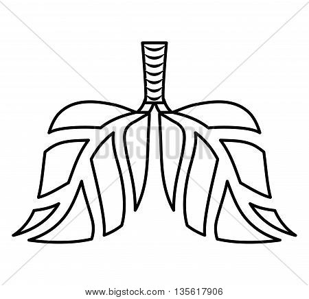Think green concept represented by abstract lungs of leaves icon over isolated and flat background