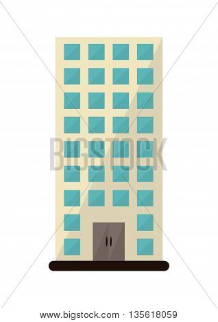 Architecture and city concept represented by building icon over isolated and flat background