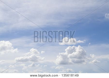 background nature blue sky with white cloud
