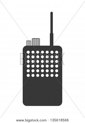 Communication by radio over isolated and flat background