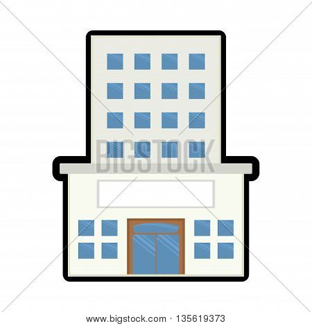Architecture  represented by building  over isolated and flat background