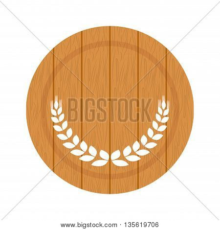 beer beverage concept represented by barrel icon over isolated and flat background
