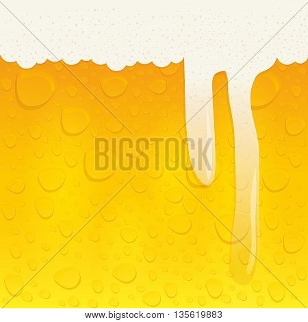 beer beverage concept represented by froth background icon over isolated and flat background