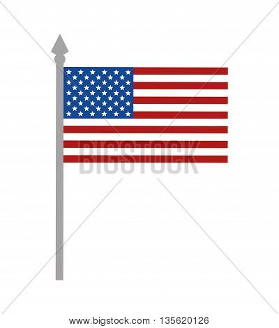 USA concept represented by flag icon over isolated and flat background
