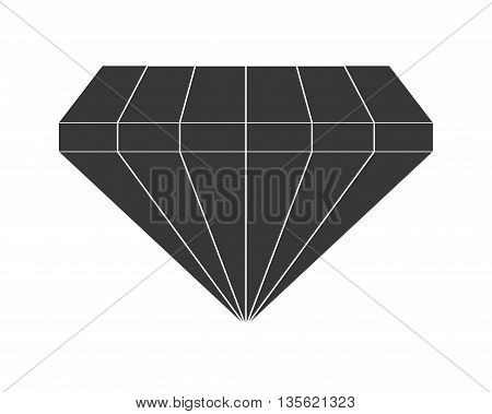Diamond concept represented by gem icon over flat and isolated background