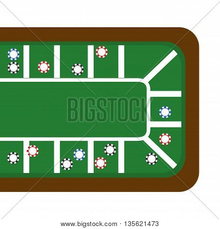 Casino and las vegas concept represented by table icon over flat and isolated background