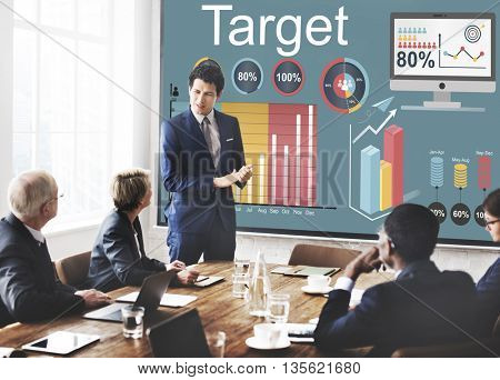Target Strategy Vision Mission Marketing Concept