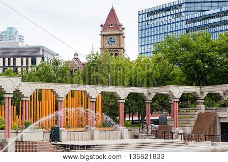 Olympic Plaza In Downtown Calgary