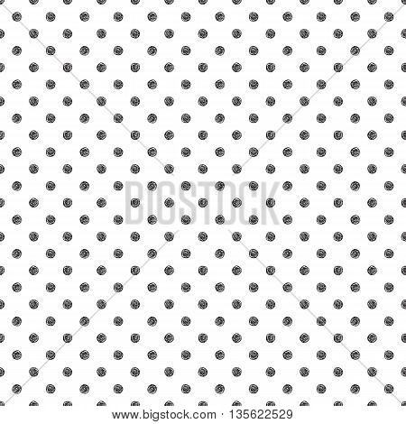 Seamless pattern with polka dot stylish doodle. Casual texture. Vector illustration.
