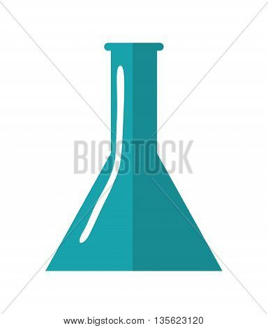 Medical cand Heatlh care concept represented by flask icon over flat and isolated background