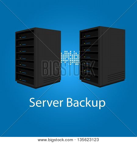 two server backup redundancy mirror for recovery and performance vector