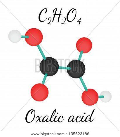 C2H2O4 Oxalic acid 3d molecule isolated on white