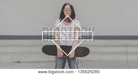 Subscribe Register Internet Media Member Concept