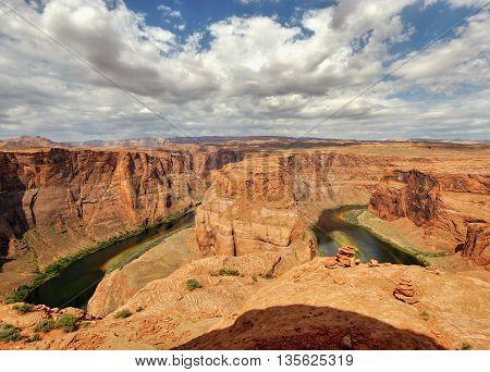 Horseshoe Bend. Colorado river. Arizona, west USA