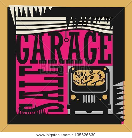 Abstract Garage Sale sign or symbol, vector illustration