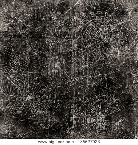 Spider web background - cobweb dirty and scratched texture