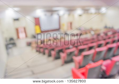 Blurred Image Of Empty Auditorium Room, Blur Background